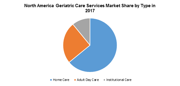 North America Geriatric Care Services Market Share by Type in 2017