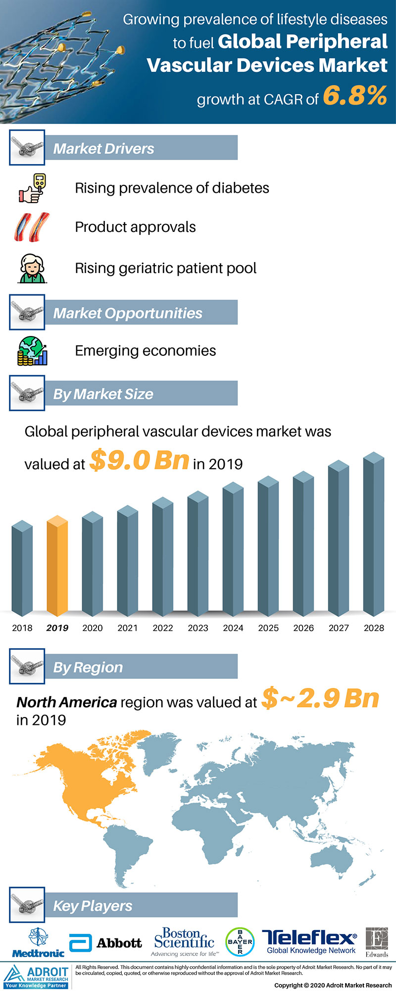 Peripheral Vascular Devices Market Size 2017 By Application, Product, Region and Forecast 2019 to 2025