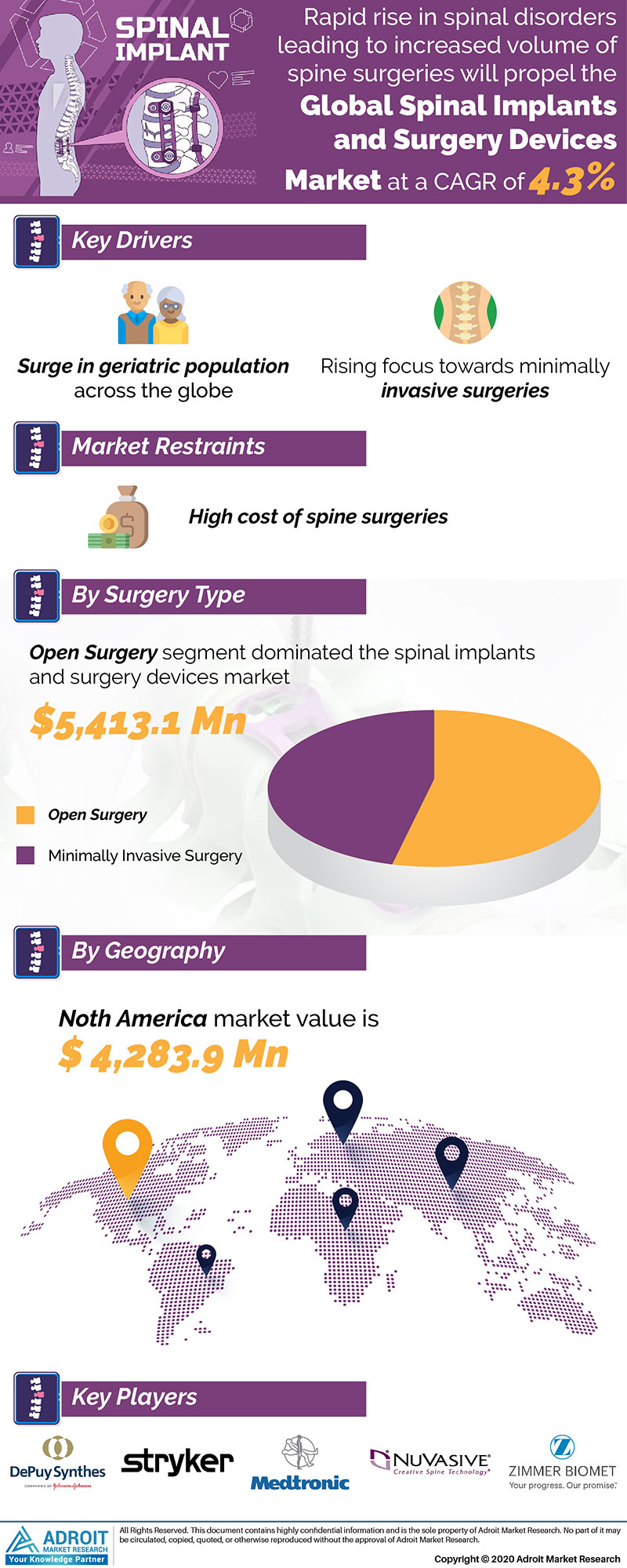 Spinal Implants And Surgery Devices Market by Material, Application, and Region, Global Forecasts 2018 to 2025